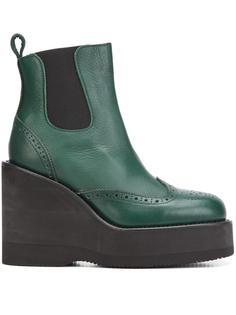 platform wedge boots Sacai