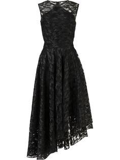 кружевное платье асимметричного кроя Christian Siriano