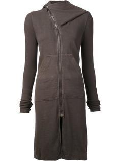 zipped hooded mid coat Rick Owens DRKSHDW
