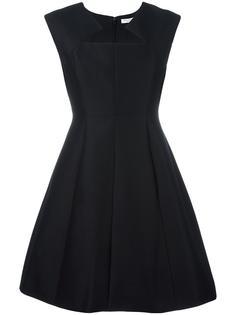 расклешенное платье с фигурным вырезом Halston Heritage