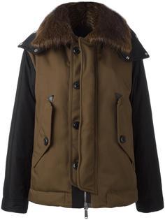 куртка-бомбер с контрастными панелями Dsquared2