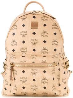 logo print backpack MCM
