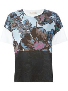 футболка с цветочным принтом Marni