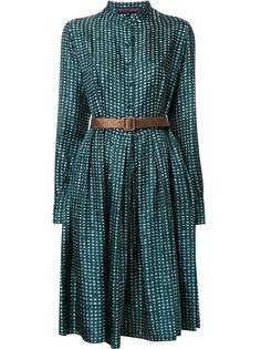 расклешенное платье на пуговицах Martin Grant
