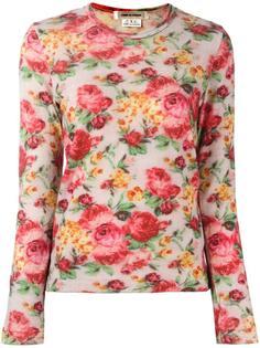 floral print top  Comme Des Garçons