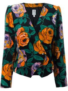 floral blazer Emanuel Ungaro Vintage