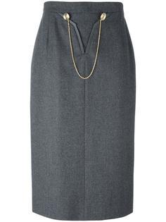 chain detail skirt Louis Feraud Vintage