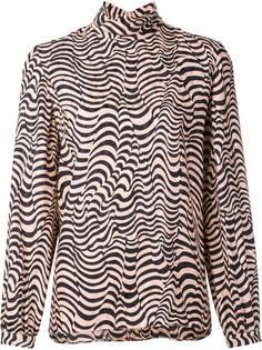 animal print turtleneck blouse Vanessa Seward