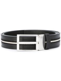 silver-tone hardware belt Bally