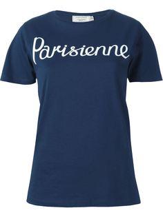 футболка 'Parisienne' Maison Kitsuné