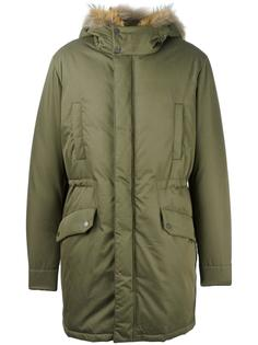 zipped parka coat Yves Salomon Homme