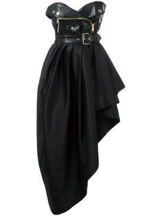 асимметричное байкерское платье без бретелей Moschino