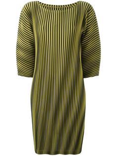 полосатое плиссированное платье Pleats Please By Issey Miyake