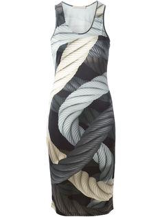 платье без рукавов с принтом в веревки Christopher Kane