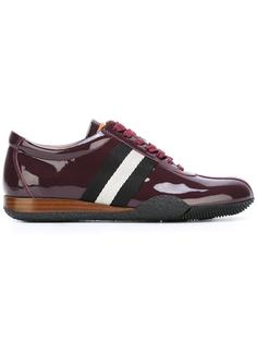 varnished stripe detailing sneakers Bally
