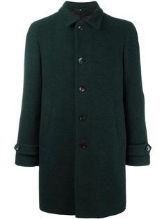 notched lapel mid coat Hevo