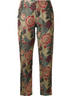 укороченные брюки с абстрактным принтом Uma Wang