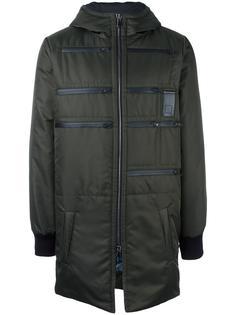 zip detail hooded coat Letasca