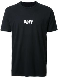 футболка с принтом-логотипом Obey