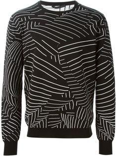 свитер с вязкой интарсия Christopher Kane