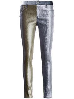 брюки с отделкой металлик Monse