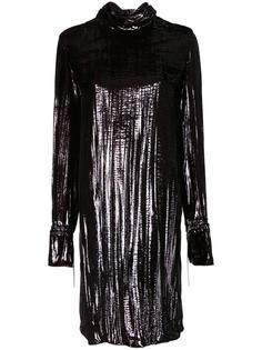 платье с эффектом металлик Nina Ricci