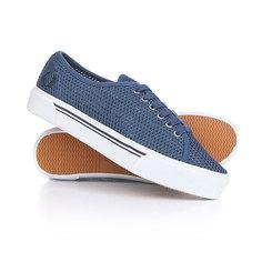 Кеды кроссовки низкие женские Fred Perry Phoenix Flatform Mesh Blue
