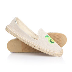 Эспадрильи женские Soludos Smoking Slipper Embroidery Lime N Coconut Sand