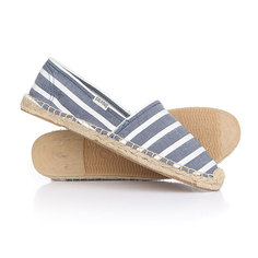 Эспадрильи женские Soludos Original Stripe Print Light Navy/White