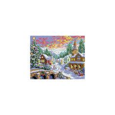 """Мозаика на подрамнике """"Рождественская ночь"""" Белоснежка"""