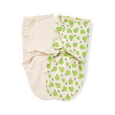Конверт на липучке SwaddleMe Organic®, размер S/M, (2 шт), , Summer Infant, зеленый/яблоки
