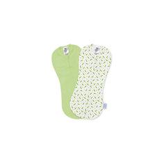 Конверт на молнии Swaddlepod®, (2 шт.), Summer Infant, зеленый/горошек