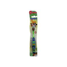 Детская зубная щетка Забавные зверята, от 3-х лет, арт. S-151, LONGA VITA, зеленый