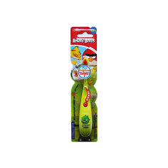 Детская зубная щётка музыкальная, Angry Birds, LONGA VITA, зеленый