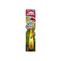 Детская зубная щётка музыкальная, Angry Birds, LONGA VITA, желтый
