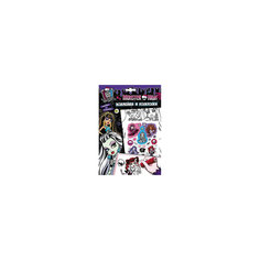 Наклейки и раскраски (фиолетовая), Monster High Росмэн
