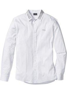 Рубашка-стретч Slim Fit с длинным рукавом (черный) Bonprix