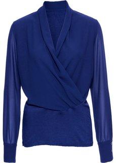 Блузка с драпировкой (кремовый) Bonprix