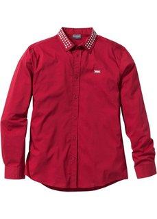 Рубашка-стретч Slim Fit с длинным рукавом (белый) Bonprix