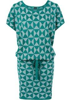 Вязаное платье (бордовый/серебристый) Bonprix