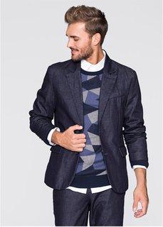 Джинсовый пиджак Slim Fit (темно-синий) Bonprix