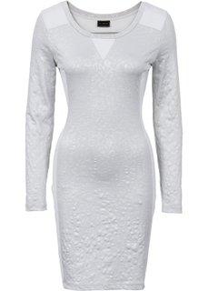 Трикотажное платье в смеси материалов (черный) Bonprix