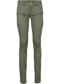 Узкие брюки-карго (новый бежевый) Bonprix