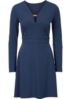 Платье с аппликацией заклепками (темно-красный/золотистый) Bonprix