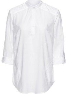 Блуза с воротником-стойкой (темно-синий) Bonprix