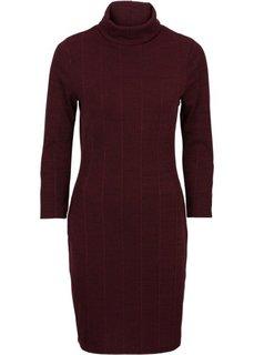 Платье-водолазка (серый меланж) Bonprix