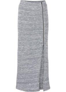 Плотная юбка с разрезом (черный) Bonprix