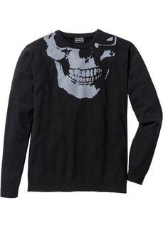 Пуловер Slim Fit (белый) Bonprix