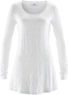 Удлиненная футболка с пайетками (черный) Bonprix