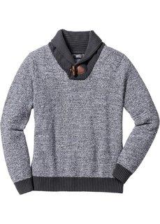 Пуловер Regular Fit с шалевым воротом (кленово-красный) Bonprix